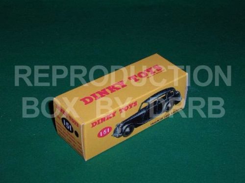 Dinky #151 Triumph 1800 Saloon - Reproduction Box ( Black )